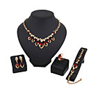 cheap Jewelry Sets-Women's AAA Cubic Zirconia Jewelry Set - Cubic Zirconia Drop Classic, Vintage, Fashion Include Necklace / Bracelet Bridal Jewelry Sets Red For Christmas Gifts Wedding Party / Special Occasion