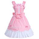 halpa Anime Cosplay-Prinsessa Söpö Lolita Naisten jsk / Jumper Skirt Cosplay Pinkki Hihaton Polvipituinen Puvut