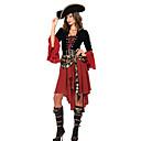 abordables Traje de Halloween-Pirata Disfrace de Cosplay / Ropa de Fiesta Mujer Halloween / Carnaval / Año Nuevo Festival / Celebración Disfraces de Halloween Negro / Rojo Retazos Más Uniformes
