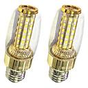 رخيصةأون لمبات LED-2pcs 9W 620lm أضواء LED ذرة T 58 الخرز LED SMD 2835 أبيض دافئ / أبيض 220-240V