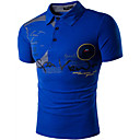 cheap LED Corn Lights-Men's Active Chinoiserie Cotton Slim T-shirt - Solid Colored Round Neck