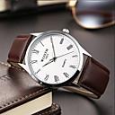 preiswerte Armband-Uhren-Herrn Modeuhr Quartz Leder Band Analog Freizeit Schwarz / Braun - Weiß Blau