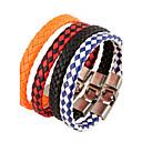 billige Herre Armbånd-Herre Læder Armbånd - Læder Natur, Mode Armbånd Smykker Orange / Rød / Blå Til Speciel Lejlighed Gave Sport
