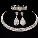 cheap Jewelry Sets-Women's Jewelry Set - Classic, Basic Include Silver For Christmas Gifts / Wedding / Party / Special Occasion / Anniversary / Birthday / Engagement / Valentine