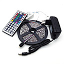 cheap LED Strip Lights-Led Strip Lights Kit 5050 5M 300leds RGB 60leds/m with 44key Ir Controller and 3A Power Supply  (EU/AU/UK/US Plug)