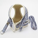 お買い得  犬用カラー/リード/ハーネス-ネコ 犬 ハーネス リード 調整可能 フラワー ファブリック イエロー ブルー ピンク
