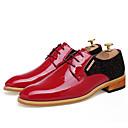 baratos Botas Masculinas-Homens Sapatas de novidade Pele Primavera / Verão Sapatos De Casamento Preto / Vermelho / Festas & Noite / Sapatos de vestir
