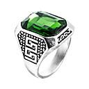 ieftine Inele Bărbați-Bărbați Sintetic Emerald Inel - Zirconiu, Smarald Design Unic, Modă, Euramerican 6 / 7 / 8 Verde Pentru Nuntă / Ocazie specială / Aniversare