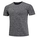 baratos Acessórios Esportivos-Homens Camiseta de Corrida Preto Cinzento Azul Marinho Esportes Camisa Blusas Exercício e Atividade Física Corrida Manga Curta Roupas Esportivas Respirável Secagem Rápida