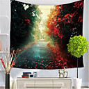 cheap Rolled Canvas Prints-Floral Theme Wall Decor Polyester/Polyamide Classical Wall Art, Wall Tapestries Decoration