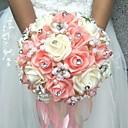 "baratos Bouquets de Noiva-Bouquets de Noiva Buquês Casamento Poliéster 7.87""(Aprox.20cm)"