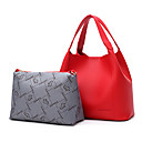 cheap Bag Sets-Women's Bags PU 2 Pieces Purse Set for Casual Black / Red / Blushing Pink