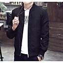 ieftine Ruj-Bărbați Mărime Plus Size Jachetă Mată, Culoare pură / Manșon Lung