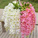 abordables Flores Artificiales-Flores Artificiales 1 Rama Estilo Pastoral Violeta Flor de Mesa