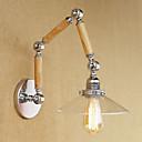 abordables Luces de Pared-Campestre Retro Luces del brazo oscilante Para Metal Luz de pared 220-240V 100-120V 60W