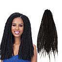 baratos Brincos-Cabelo para Trançar Encaracolado / Clássico Tranças Crochet pré-laço / Extensões de Cabelo Natural 100% cabelo kanekalon Tranças de cabelo Diário