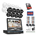 cheap Indoor IP Network Cameras-SANNCE® 8CH 8PCS 720P Weatherproof Security System with 4IN1 1080P LCD DVR Supported TVI Analog AHD IP Cameras & 1TB HD