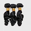 baratos Sapatos de Noiva-3 pacotes Cabelo Peruviano Ondulação Larga Cabelo Virgem Cabelo Humano Ondulado 8-26 polegada Tramas de cabelo humano Extensões de cabelo humano