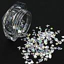 levne Samolepky na nehty-1 pcs Flitry / Glitter na nehty Zářivé / Laserová holografická Design nehtů