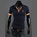 cheap Rings-Men's Active Plus Size Cotton Slim Polo - Solid Colored Shirt Collar / Short Sleeve