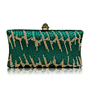 cheap Clutches & Evening Bags-Women's Bags Polyester / Nylon Evening Bag Crystal / Rhinestone Green