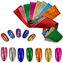 baratos Sapatos Esportivos Masculinos-9pcs/set Etiqueta da folha / Adesivo de unha Com Gliter / Decalques de unha Nail Art Design