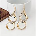 olcso Divat fülbevalók-Női Függők Fülbevaló - Twist Kör minimalista stílusú Arany / Ezüst Kompatibilitás Esküvő Parti Különleges alkalom / Évforduló / Születésnap / Ajándék