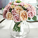 cheap Artificial Flower-Artificial Flowers 9 Branch Wedding Flowers Roses Tabletop Flower