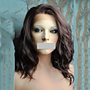 cheap Synthetic Lace Wigs-synthetic wigs medium length wet and wavy synthetic lace front wig brown color for women