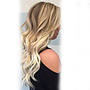 cheap Synthetic Capless Wigs-Human Hair Capless Wigs Human Hair Wavy / Classic Machine Made Wig Daily