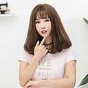 cheap Synthetic Capless Wigs-Synthetic Wig Straight Bob Haircut / With Bangs Synthetic Hair Brown / Gray Wig Women's Medium Length Capless