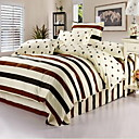 cheap Smartwatch Accessories-Duvet Cover Sets Stripe Cotton Print 4 Piece