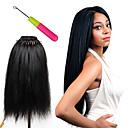 זול צמות שיער-שיער קלוע סריגה צמות סרוגות טרום לולאה שיער סינטטי 1pc / Pack שיער צמות