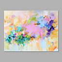 baratos Pinturas Abstratas-Pintura a Óleo Pintados à mão - Floral / Botânico Artistíco Tela de pintura / Lona esticada