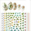 cheap Nail Glitter-1pcs summer fresh style diy decoration nail art 3d stickers green plant cactus decoration for lady beauty f249
