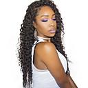 olcso Felragasztható póthajak-Remy haj Csipke korona, szőtt Csipke Paróka 360 Frontal Paróka 180% Haj denzitás Természetes hajszálvonal Afro-amerikai paróka 100% kézi csomózású Női Rövid Közepes Hosszú Emberi hajból készült