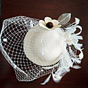 cheap Earrings-Tulle / Lace / Feather Fascinators / Hats / Hair Clip with 1 Wedding / Special Occasion / Birthday Headpiece