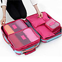cheap Travel Bags & Hand Luggage-Textile Plastic Oval Novelty Multi-functional Home Organization, Six-piece Suit Storage Bags