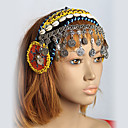 cheap Dance Accessories-Belly Dance Headpieces Women's Performance Shell Sequined Metal Sequin Starfish and Seashell Silver Coin Bohemian Theme Fairies Holiday