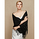 cheap Wedding Wraps-Cotton Wedding / Party / Evening Women's Wrap With Floral / Tassel Shawls