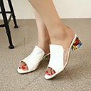 cheap Clutches & Evening Bags-Women's Shoes PU(Polyurethane) Summer Comfort Sandals White / Red