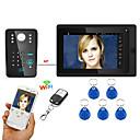 olcso Videó kaputelefonok-7inch vezetékes / vezeték nélküli wifi RFID jelszavát video kaputelefon csengő kaputelefon TÁMOGATÁSA távoli app kinyitó felvétel
