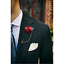 cheap Pins and Brooches-Men's / Women's Brooches - Flower Brooch Blue / Wine / Light Blue For Wedding / Party / Party Evening