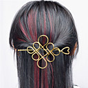 cheap Bracelets-Europe and the United States foreign trade euro contracted joker hair accessories Hollow metal Chinese knot hair half arm type A0331-0332