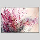 cheap Oil Paintings-Oil Painting Hand Painted - Floral / Botanical Abstract Canvas / Stretched Canvas