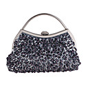 cheap Clutches & Evening Bags-Bags Polyester Evening Bag Beading / Crystals for Wedding / Event / Party Champagne / White / Gray