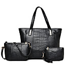 cheap Bag Sets-Women's Bags PU Bag Set Zipper Black / Red / Gray