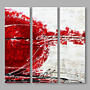 cheap Chandeliers-Oil Painting Hand Painted - Abstract Artistic Canvas / Stretched Canvas