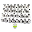 cheap Bakeware-1Lot (32pcs) DIY Patterns Stainless Steel Icing Piping Nozzles Dessert Decorators Russian Pastry Tips Fondant Cup Cake Baking Tool