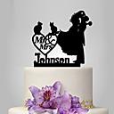זול מתנות לחתונה-קישוטים לעוגה נושא קלאסי / רומנטיקה / חתונה זוג קלסי פלסטי חתונה / יוֹם הַשָׁנָה עם 1 pcs תיק פולי